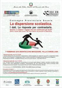 Convegno Prov. DISPERSIONE SCOLASTICA -7 febbraio-        Montecchio Magg. Villa Cordellina